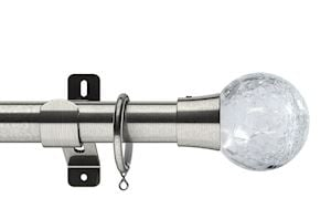 Swish 28mm Design Studio Gossamer Satin Steel Metal Curtain Pole
