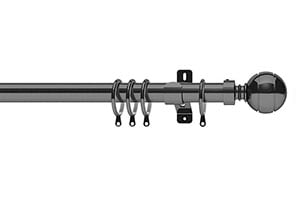 Swish 28mm Elements Lexington Graphite Metal Curtain Pole