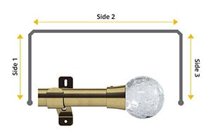 Swish Design Studio Gossamer 35mm Antique Brass Bay Window Curtain Pole