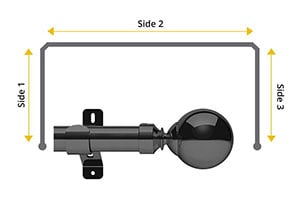 Swish Design Studio Mondiale 35mm Graphite Bay Window Curtain Pole