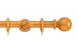 Swish 28mm Naturals Ball Antique Pine Wooden Curtain Pole