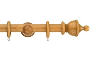 Swish 28mm Naturals Urn Aged Oak Wooden Curtain Pole