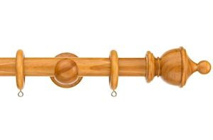 Swish 28mm Naturals Urn Antique Pine Wooden Curtain Pole