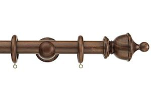 Swish 28mm Naturals Urn Dark Walnut Wooden Curtain Pole