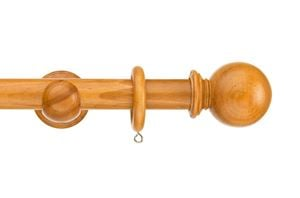 Swish 35mm Naturals Ball Antique Pine Wooden Curtain Pole