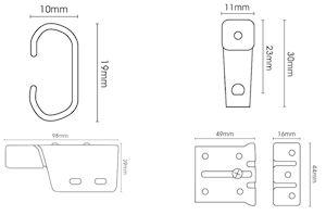 Universal Metal Corded Extendable Curtain Track White - Thumbnail 2